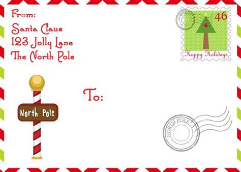 shipping label  santa   north pole  elf