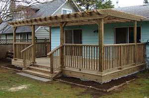 Ground Level Deck Designs Inspirations And Ideas Image Of