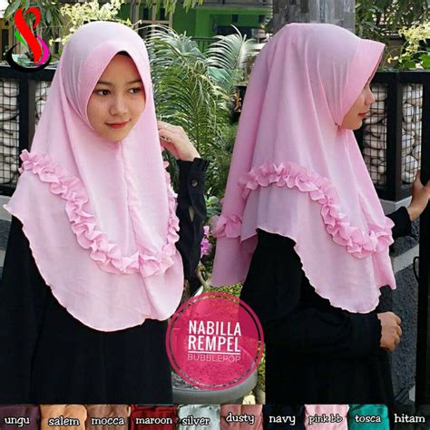 Gamis Nabilla Pashmina jilbab nabilla rempel 183 sentral grosir jilbab i produsen