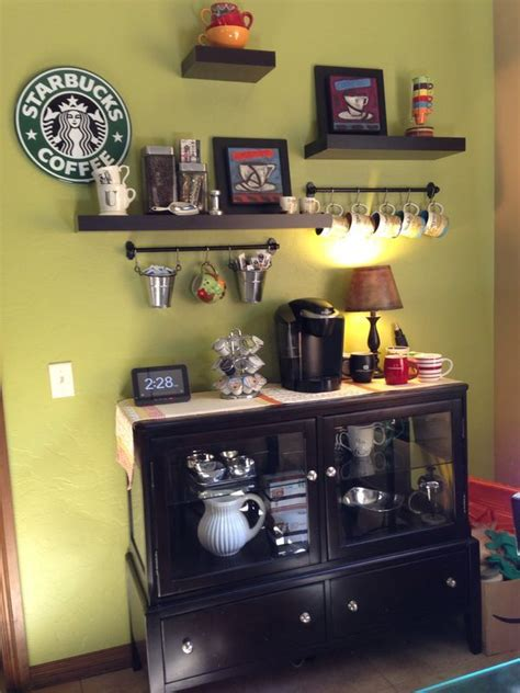 Although we work all day in tiny, lifeless gray cubicles, there's no reason we need to tolerate that nasty brown swill called office coffee. 25+ DIY Coffee Bar Ideas for Your Home (Stunning Pictures)   Coffee bar home, Coffee bars in ...