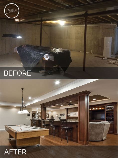 Bolingbrook Before After Basement Finish Project