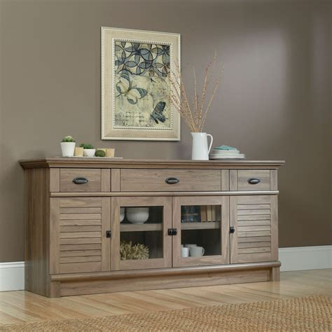 sauder harbor view 4 dresser salt oak harbor view 71 quot tv stand salt oak levin furniture