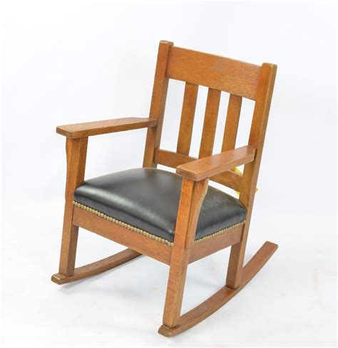 Stickley Upholstered Rocking Chair by Stickley Style Child S Rocking Chair