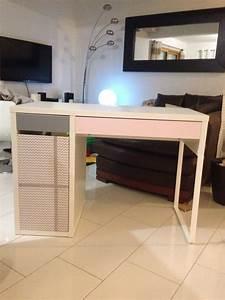 Ikea Petit Bureau : bureau ikea transformer en un joli petit bureau de petite fille gris rose et chevron ~ Melissatoandfro.com Idées de Décoration