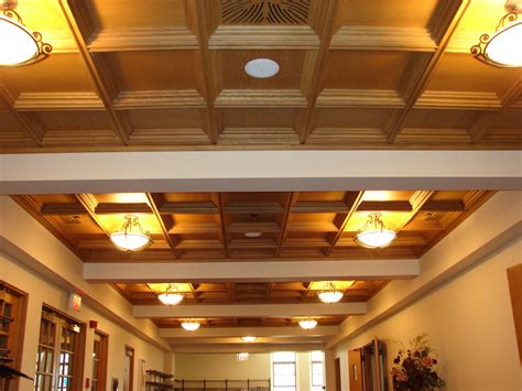 Suspended Wood Ceiling by Woodgrid 174 Coffered Ceilings By Midwestern Wood Products Co