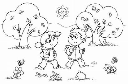 Coloring Outdoor Pages Scene Printable Getcolorings