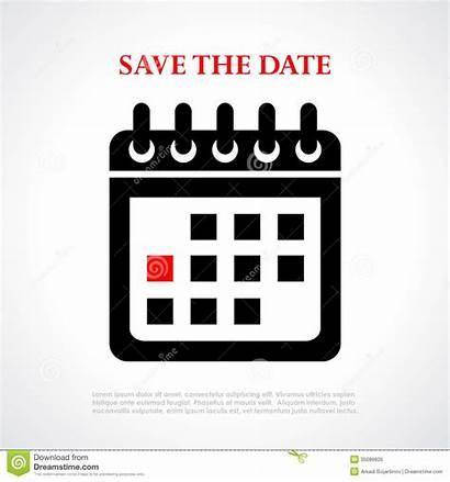 Date Save Calendar Vector Clipart Poster Royalty