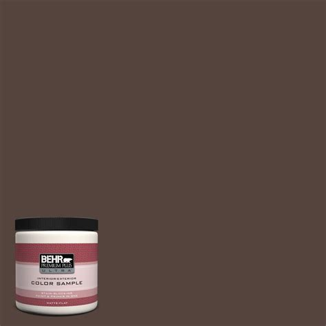 behr premium plus ultra 8 oz 780b 7 bison brown matte