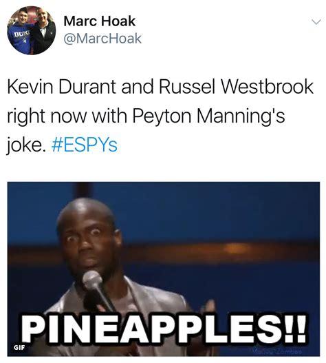 Kevin Durant Memes - kevin durant peyton manning memes espys top 10