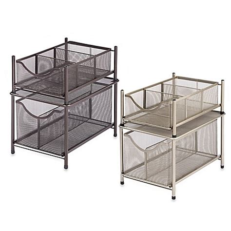 under cabinet storage containers org under the sink mesh slide out cabinet drawer bed