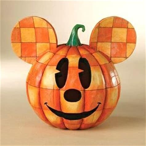 happy halloween mickey mouse halloween pumpkin head figure
