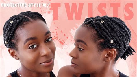 quick easy protective style  short natural hair