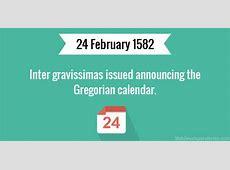 Inter gravissimas issued announcing the Gregorian calendar