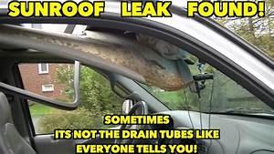 Sunroof Leak Found