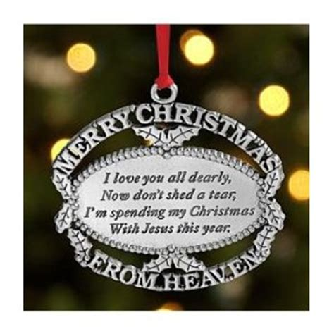 merry christmas from heaven pewter ornament with bookmark