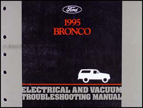 Ford Bronco Electrical Vacuum Troubleshooting