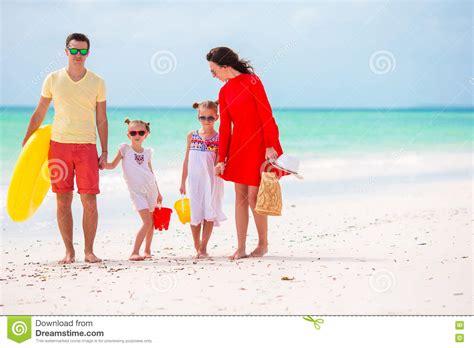 Family Having Fun On Beach Vacation Royalty-free Stock
