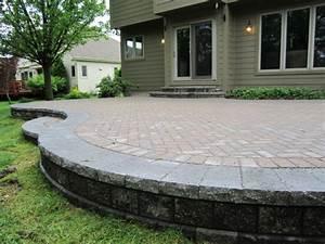 Build a paver patio patio design ideas for Raised brick patio designs