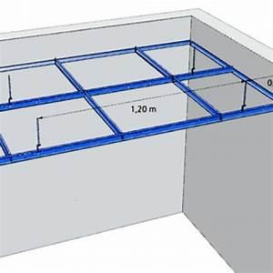 Faux Plafond Autoportant : ossature plafond suspendu dalles maison travaux ~ Nature-et-papiers.com Idées de Décoration