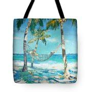 Hammock In A Bag Target by Hammock And Palms Painting By Jan Farara