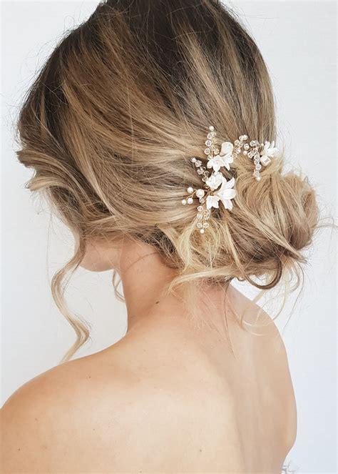 BRIAR ROSE Floral Bridal Hair Pins TANIA MARAS