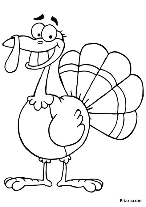 Coloring A Turkey by Turkey Coloring Pages For Pitara Network