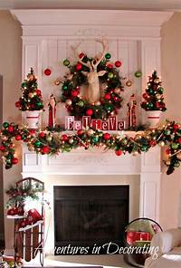 mantel christmas decorations A Whole Bunch Of Christmas Mantels 2013 — Style Estate