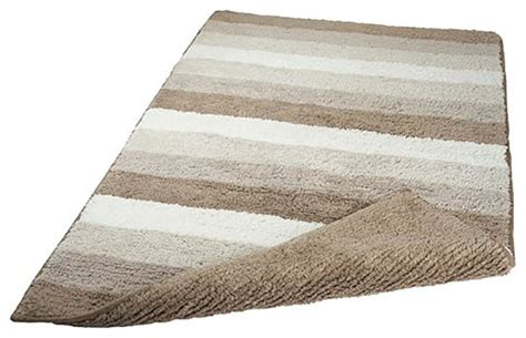 Vita Futura Taupe Unique Reversible Cotton Bathroom Rug