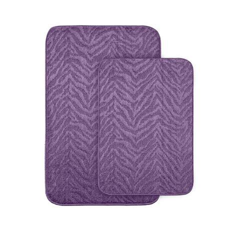 Garland Rug Zebra Purple 20 In X 30 In Washable Bathroom