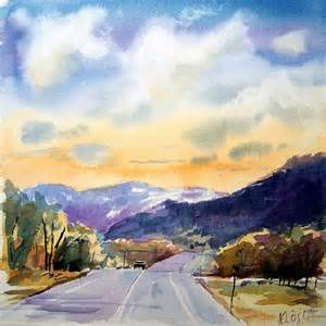 Beautiful Landscape Watercolor