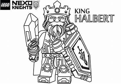 Knights Coloring Nexo Lego Pages King Halbert