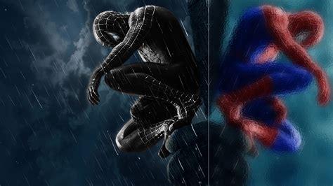 Black Suit Spiderman Wallpaper