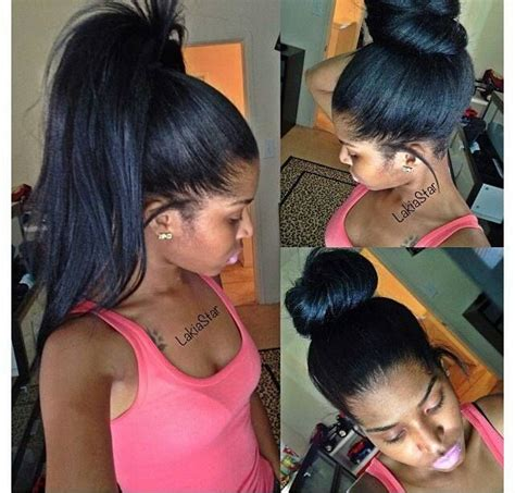 Sew In Ponytail Hairstyles by Versatile Pull Up Sew In Weave Braids Weaves