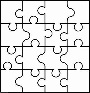 autism puzzle piece cut out clipart best With puzzle cut out template
