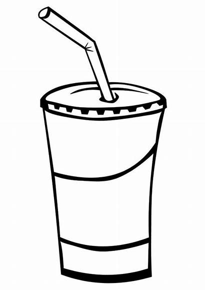 Clip Drink Coloring Smoothie Pages Clipart Soft
