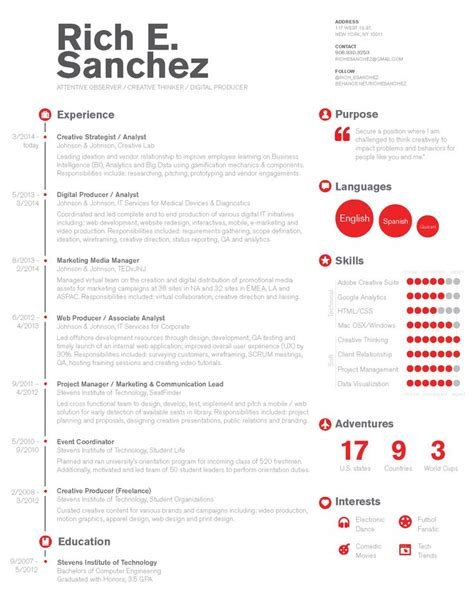 simple clean infographic timeline resume design for