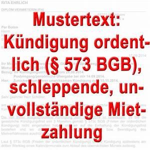 Ordentliche Kündigung Des Mieters : mustertext ordentliche k ndigung wegen mietr ckstand des ~ Watch28wear.com Haus und Dekorationen