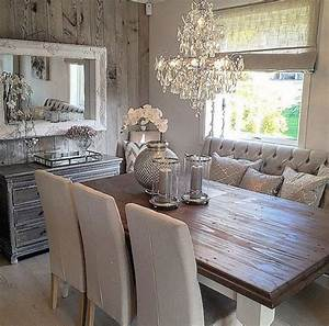 99 amazing rustic dining room table decor ideas 99homy With rustic chic dining room ideas
