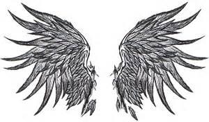 Fallen Angel Wings Drawing