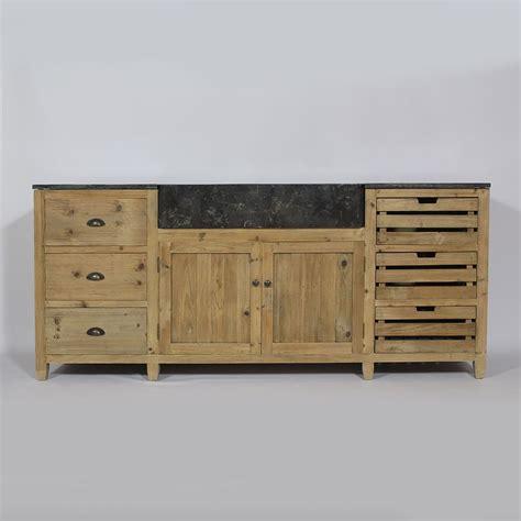 meuble cuisine bois meuble de cuisine en palette de bois mzaol com