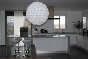 decoration cuisine blanc et grise exemples d39amenagements With cuisine blanc et grise