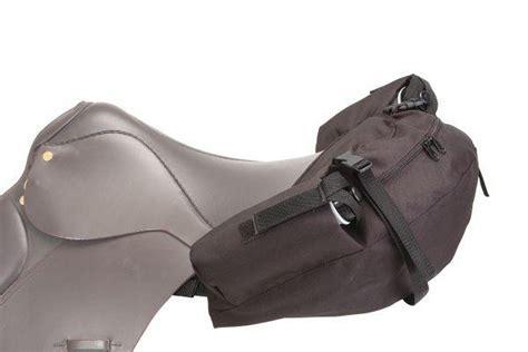 English Saddle Two Bottle Cantle Bag