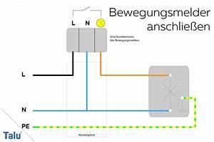 Wie Funktioniert Ein Bewegungsmelder : bewegungsmelder anschlie en und einstellen anleitung ~ Frokenaadalensverden.com Haus und Dekorationen