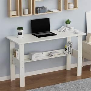 Computer, Desk, With, Shelves, Home, Office, Desktop, Computer, Desks, Student, Laptop, Tables, Writing