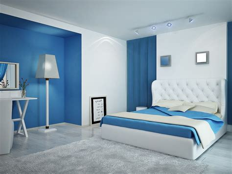 Blue White Bedroom Design by Blue And White Contemporary Bedroom Design Photo 6