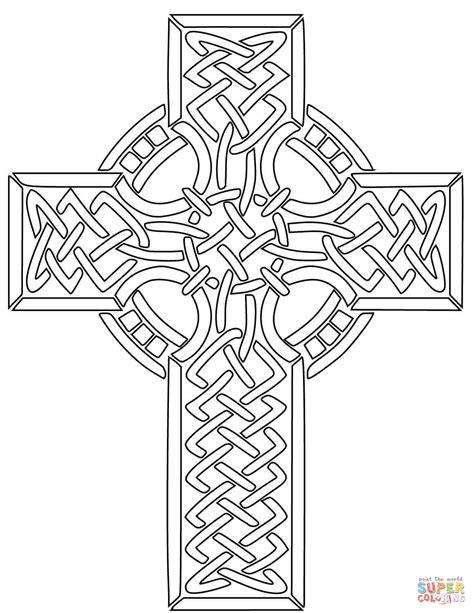 cross coloring page celtic cross coloring page free printable coloring pages