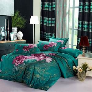 Teal, Colored, Cute, Full, Queen, Size, Bedding, Sets