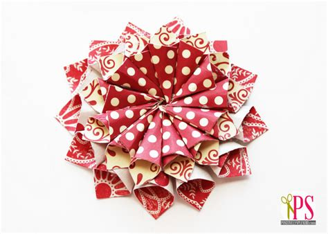 christmas flower ornaments rolled paper ornaments