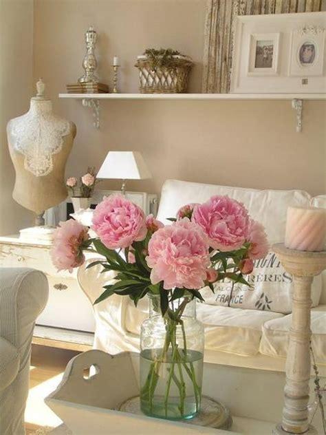 shabby chic decor living room beautiful flowers and shabby chic ideas for white living room decorating