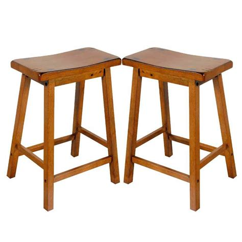 24 Stools For The Kitchen by Gaucho Set Of 2 Kitchen 24 Quot H Counter Height Bar Saddle